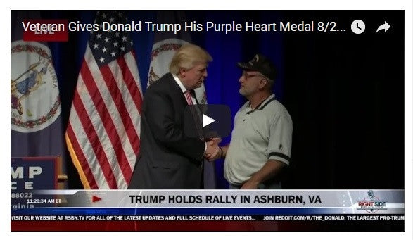 Trump Accepts Purple Heart Amid Controversy