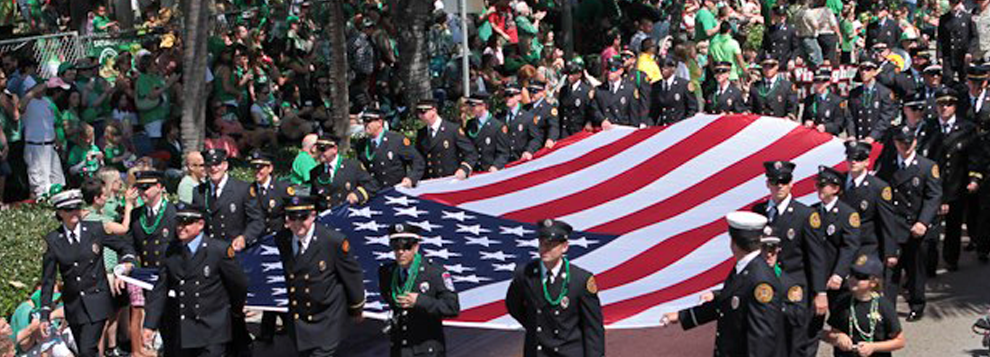 WWII Veterans Celebrate Saint Patty's Day By Leading The Holiday's Parade!