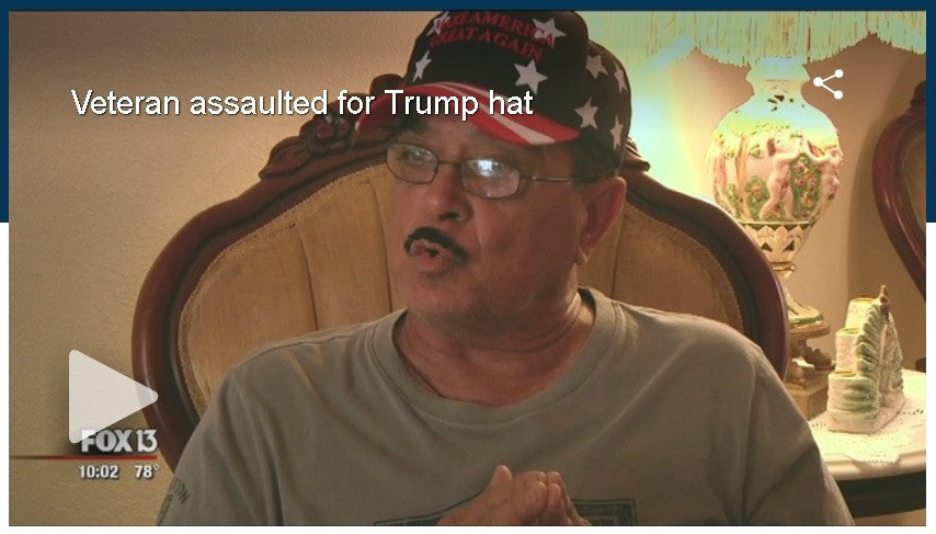 Veteran Punched For Wearing Trump Hat