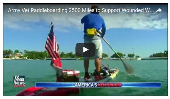 Veteran Embarks on 3,500 Mile Paddleboard Trip - The Reason Will Shock You!