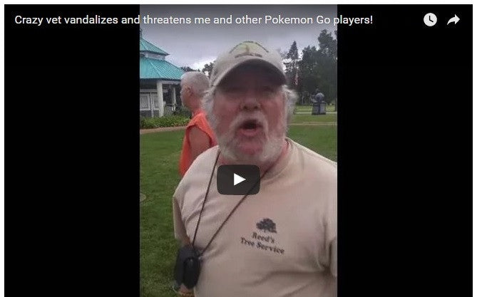 Watch Angry Veterans Confront Pokemon Go Players Gaming In A Veteran's Park
