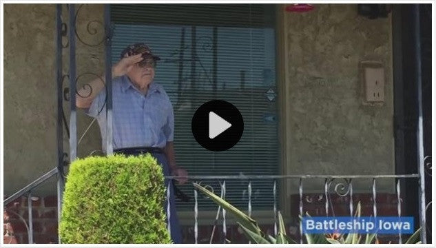 Sailors Give WWII Navy Veteran A Tear Jerking Surprise!