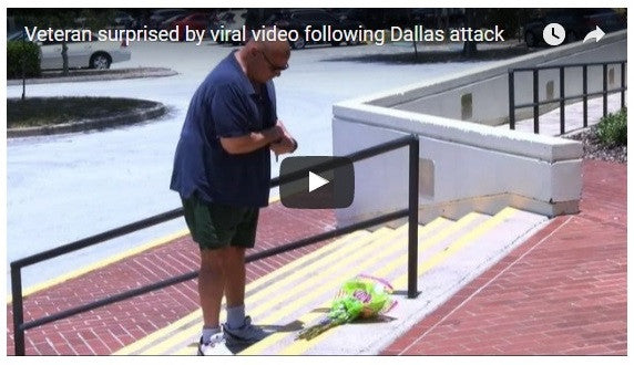 Florida Veteran's Tribute To Dallas Officers Goes Viral