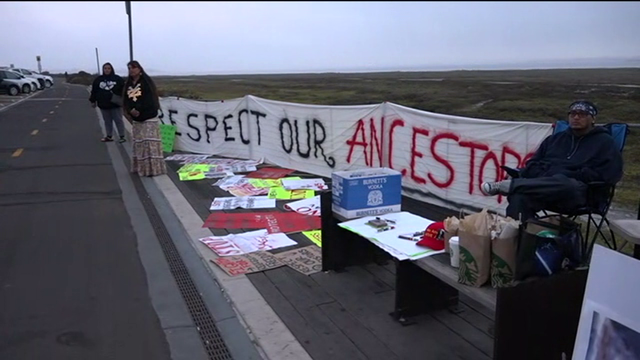Native Americans Protest Construction of Navy SEAL Complex on Sacred Site