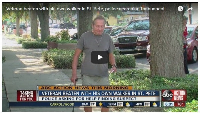 Army Vet Beaten With His Own Walker In Walmart Parking Lot!