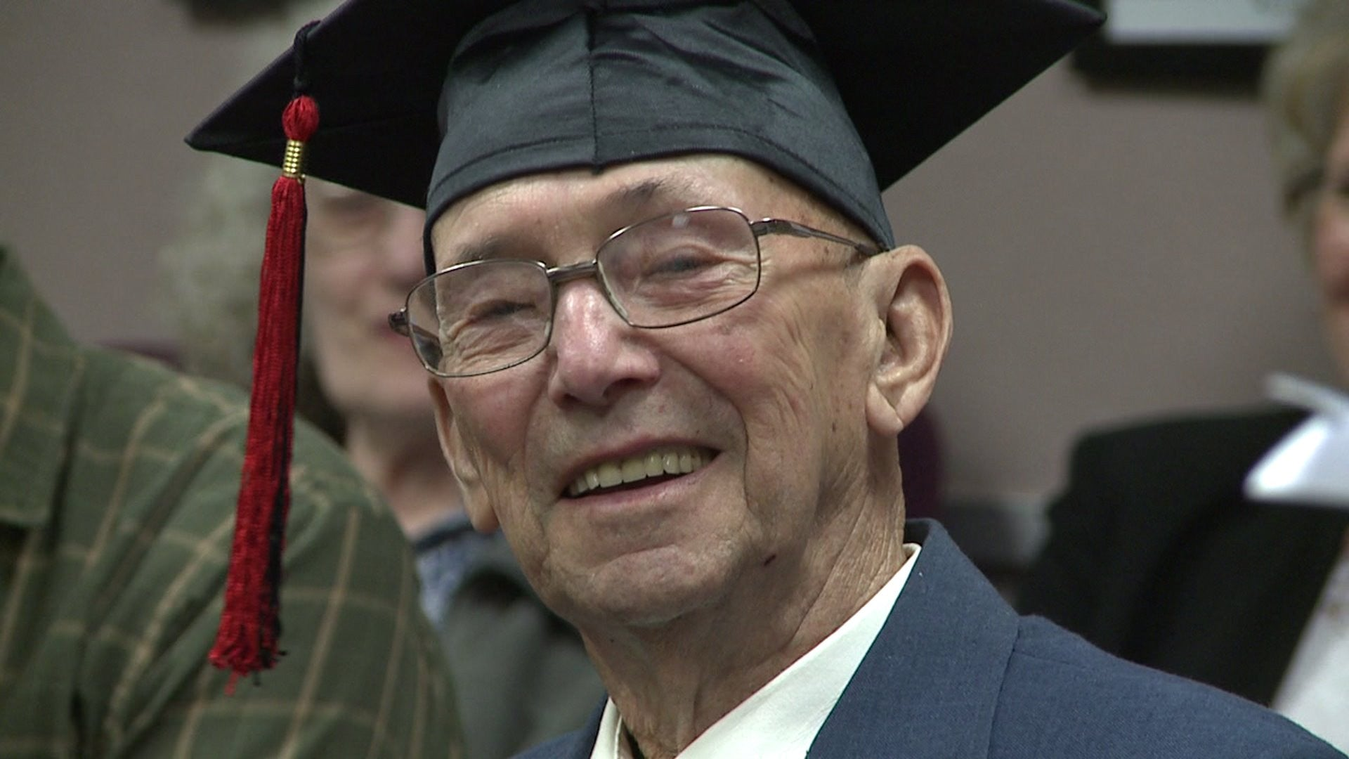 WWII Veteran Gets His High School Diploma 72 Years Later!!