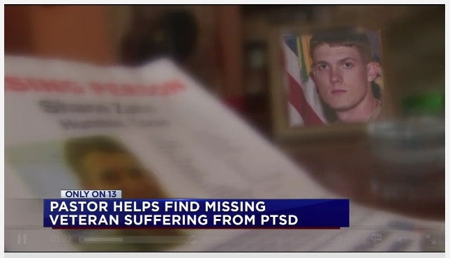 PASTOR HELPS FIND MISSING VETERAN SUFFERING FROM PTSD
