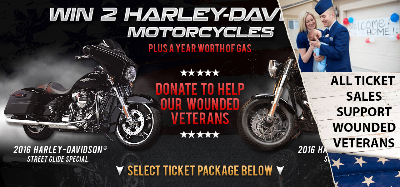 Harley for Heroes Motorcycle Giveaway Charity Sweepstakes