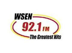 Logo for WSEN 92.1 FM The Greatest Hits Radio Station