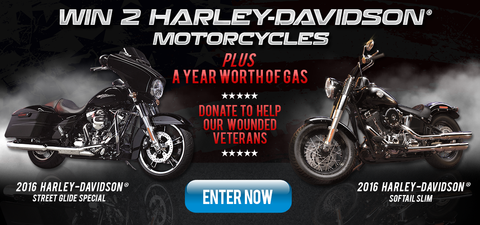 Enter to Win 2 Harley Davidson Motorcycles