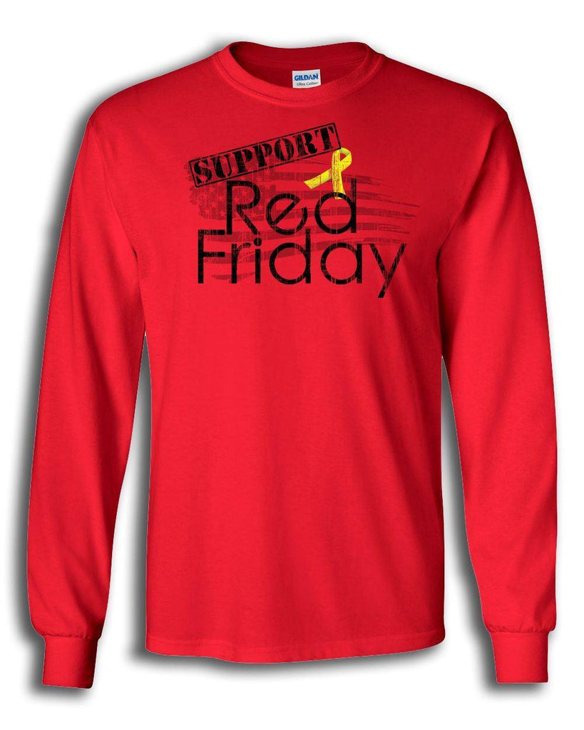 Support Red Friday Long Sleeved Shirt