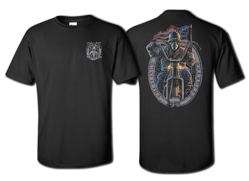 Ghost Rider Shirts Front & Back in Black