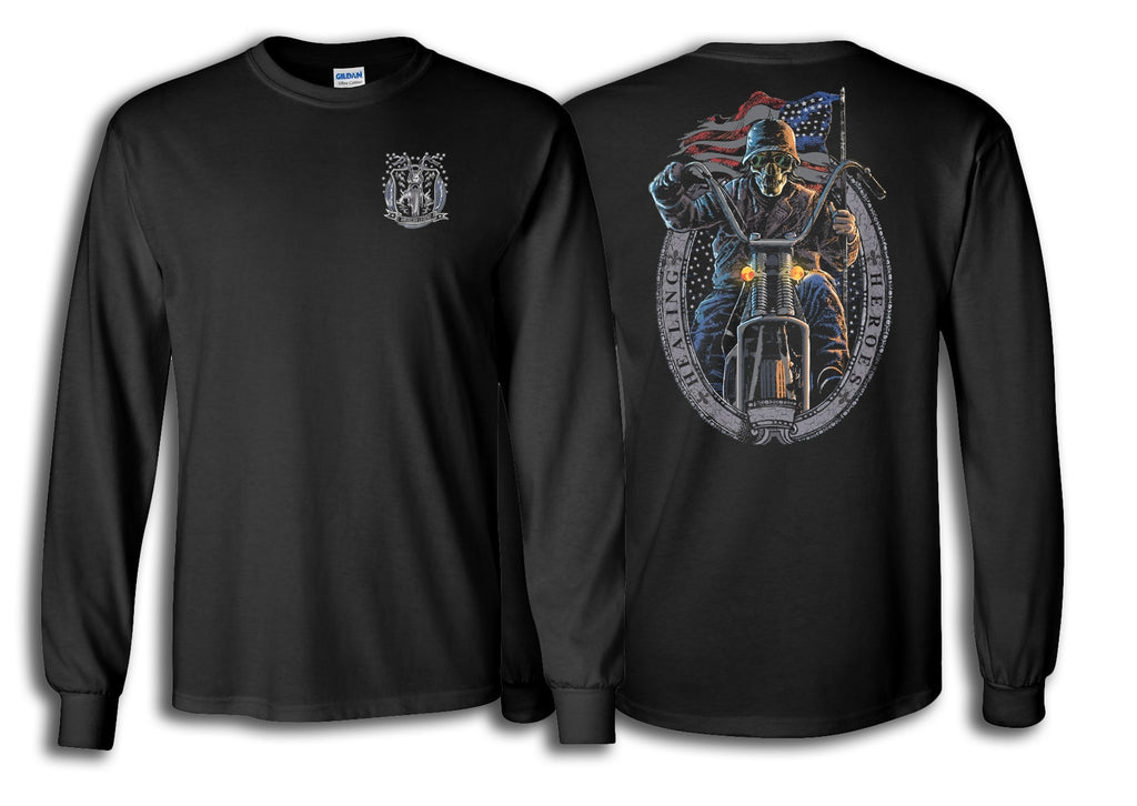 Long Sleeve Ghost Rider Shirt in Black