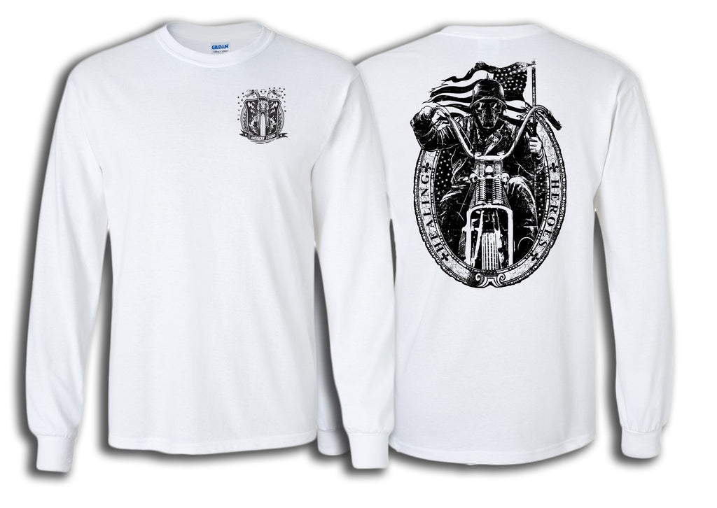 Ghost Rider Shirt in White - Long Sleeve