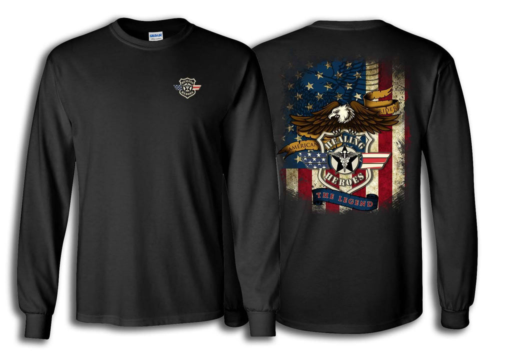 The Legend Military Long Sleeve Shirt Black