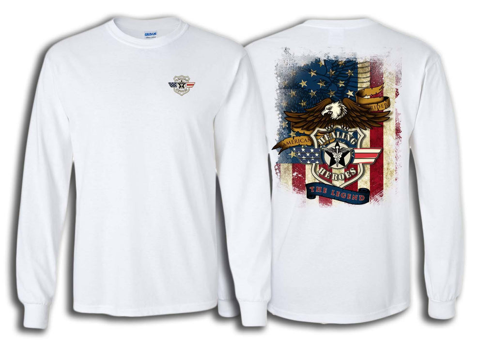 The Legend Military Long Sleeve Shirt White