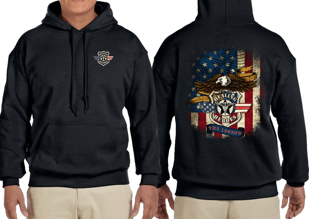 The Legend Military Sweatshirt Black
