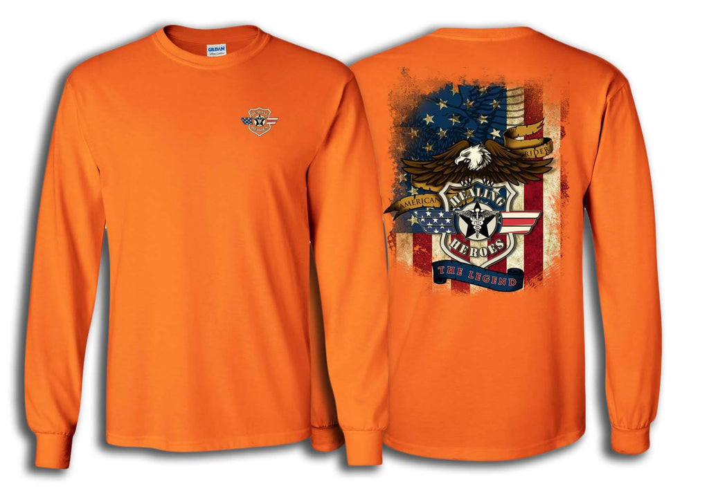 The Legend Military Long Sleeve Shirt Orange