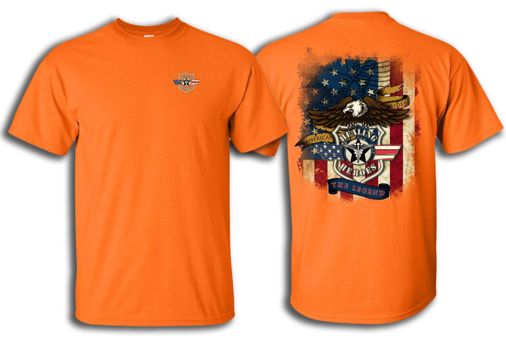 The Legend Military T-Shirt in Orange