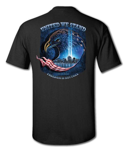 United We Stand 9 11 T Shirt in Black