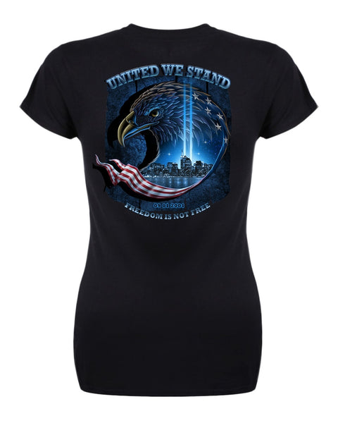 United We Stand GS 9 11 T Shirt for Ladies