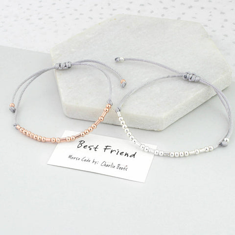 Best Friend Morse Code Bracelet