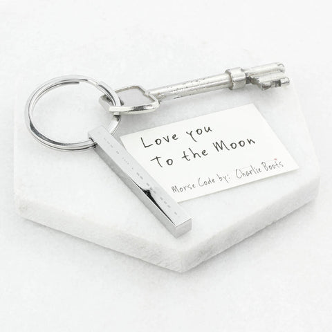 Personalised Morse Code Bar Keyring