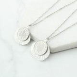 18th Or 21st Five Pence 5p Silver Leaf Necklace
