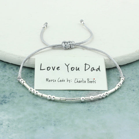 Morse Code 'Love You Dad' Bracelet