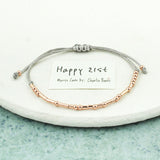 'Happy 21st' Birthday Morse Code Bracelet