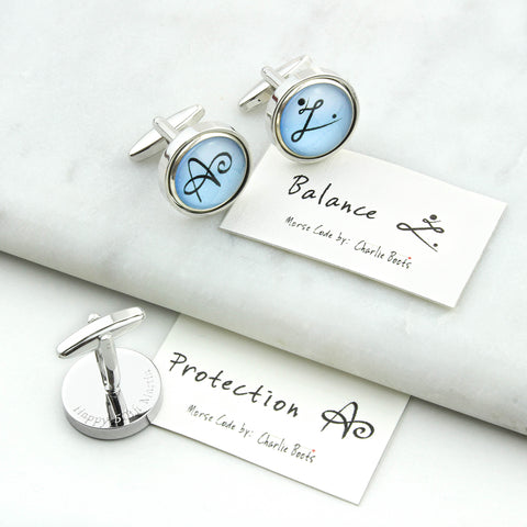 Personalised Secret Symbol Cufflinks Active