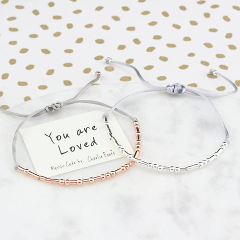 You Are Loved Morse Code Bracelet