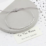 Morse Code I Love You To The Moon Bracelet