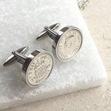 1960 (60th) Birthday Sixpence Coin Cufflinks