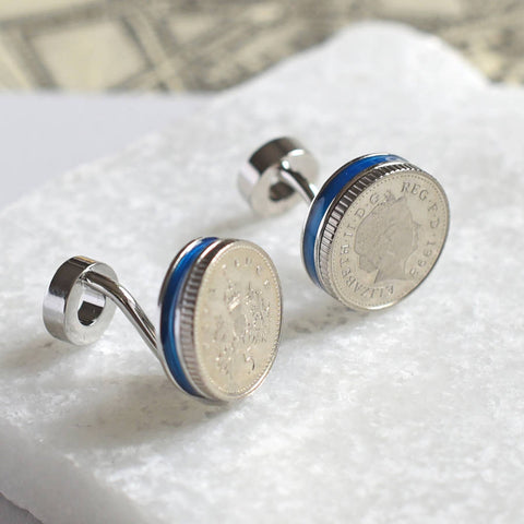 18th & 21st  Birthday Five Pence  Cufflinks
