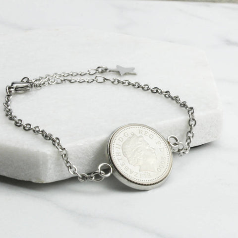 18th Or 21st Five Pence Chain Bracelet