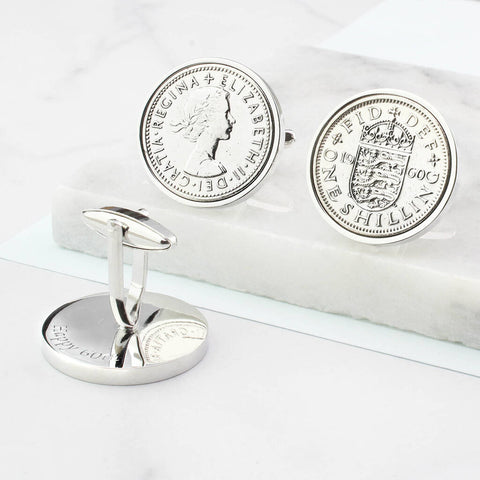 60th Birthday Shilling Cufflinks