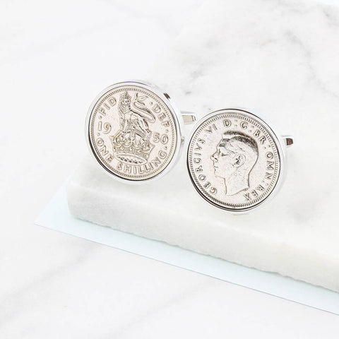 70th Birthday Shilling Cufflinks