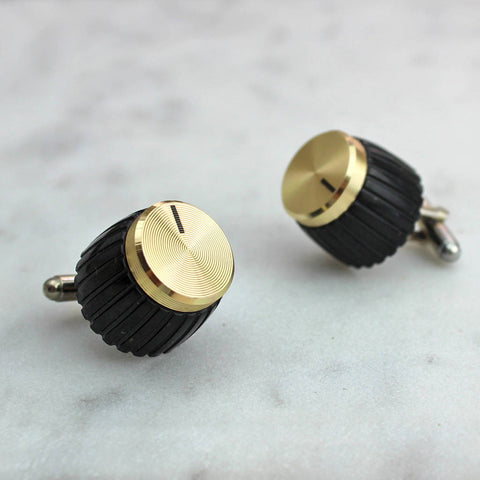 Gold Amp Knob Cufflinks