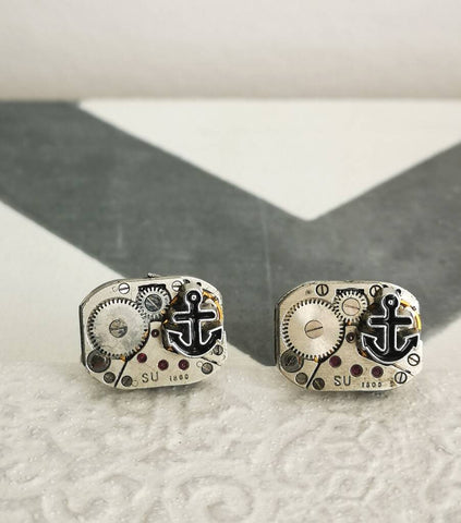 Anchor Watch Movement Cufflinks