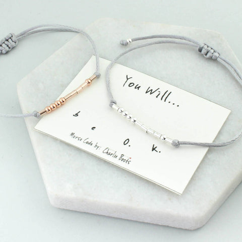 You Will Be Ok Morse Code Bracelet