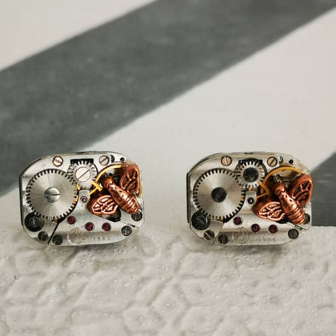 Recycled Bee Watch Movement Cufflinks