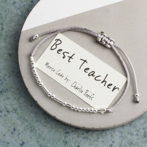 'Best Teacher' Morse Code Bracelet