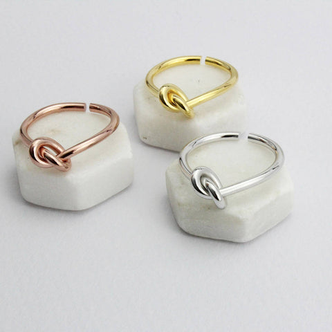 Adjustable Infinity Ring In Silver, Rose Gold Or Gold