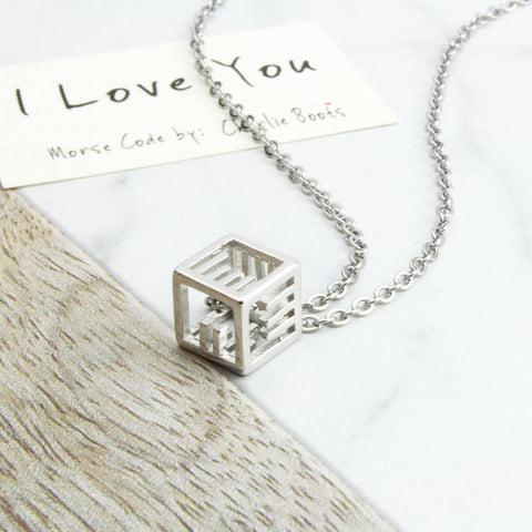 Morse Code 'I Love You' Necklace