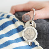 Personalised 1950 70th Birthday One Shilling Keyring