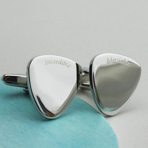 Personalised Guitar Plectrum Cufflinks
