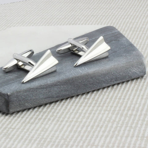 Personalised Paper Plane Cufflinks