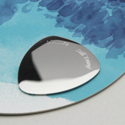 Personalised Stainless Steel Guitar Plectrum