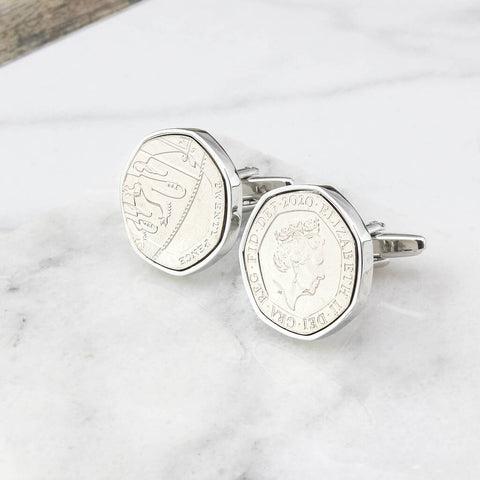 Year 2020 Twenty Pence Cufflinks